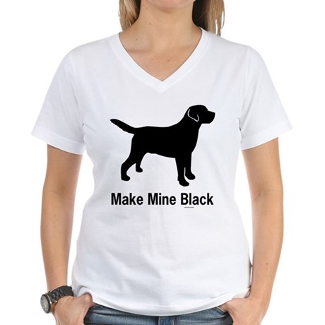 Make Mine Black Women's V-Neck T-Shirt
