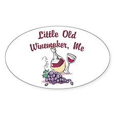 Little Old Winemaker Oval Sticker