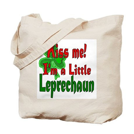 Kiss Little Leprechaun Tote Bag