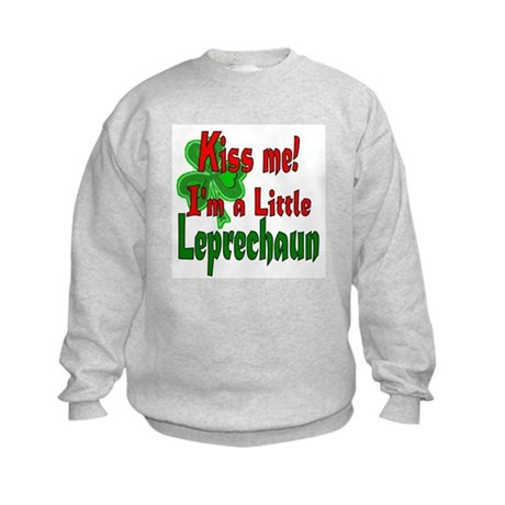 Kiss Little Leprechaun Kids Sweatshirt