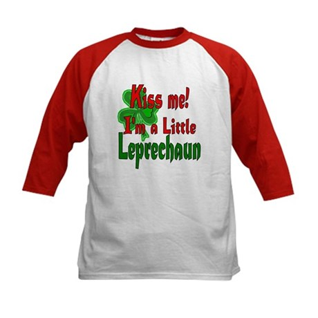 Kiss Little Leprechaun Kids Baseball Jersey