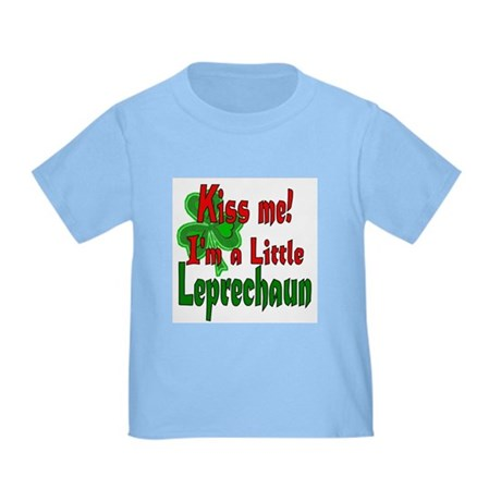 Kiss Little Leprechaun Toddler T-Shirt