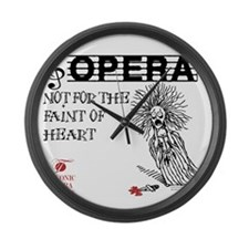opera-faint-of-heart Large Wall Clock