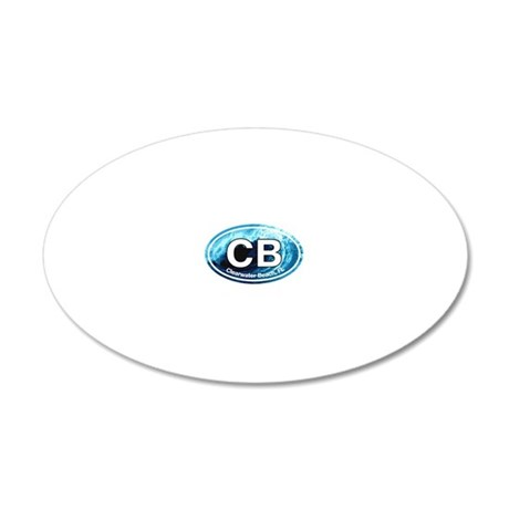 CB.Clearwater Beach.Wave 20x12 Oval Wall Decal