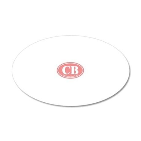 CB.Clearwater Beach.Dutch.pi 20x12 Oval Wall Decal