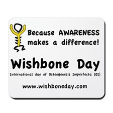 oi wishbone day Mousepad