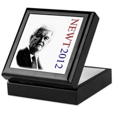 Newt For President onWhite Keepsake Box