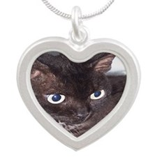 Cat-PJs-1 Silver Heart Necklace