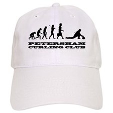 evolution of curling with large logo Hat