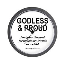 Godless & Proud Wall Clock