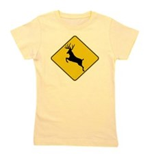 Whitetail caution Girl's Tee