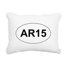 AR15 Rectangular Canvas Pillow