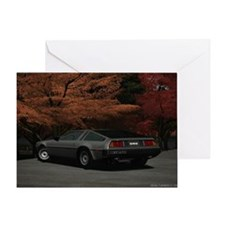 DeLorian-Back laptop skin Greeting Card