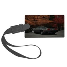 DeLorian-Back laptop skin Luggage Tag