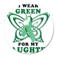 I Wear Green for my Daughter Round Car Magnet