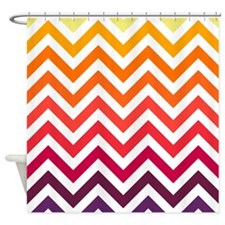 warm colors chevrons pattern2. Shower Curtain