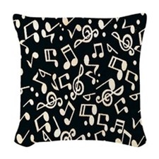 music note Woven Throw Pillow