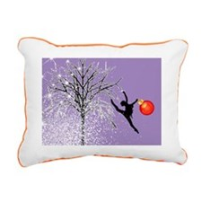 dancers christmas purple Rectangular Canvas Pillow