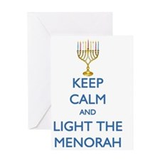 keep_calm_LIGHT_THE_MENORAH_CP Greeting Card