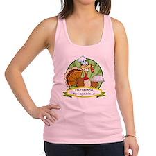 thanksgiving vegetarian Racerback Tank Top