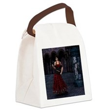 Day of the Dead Crimson Evening Canvas Lunch Bag