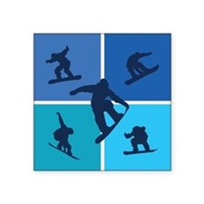 "snowboarding Square Sticker 3"" x 3"""