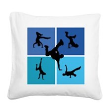 breakdance Square Canvas Pillow