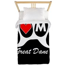 I Heart My Great Dane Twin Duvet