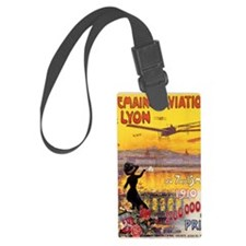 French Vintage Aviation  Luggage Tag