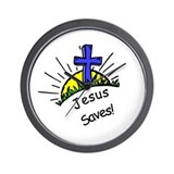 Funny Jesus saves Wall Clock