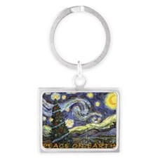 Starry Night/ Peace on Earth Landscape Keychain