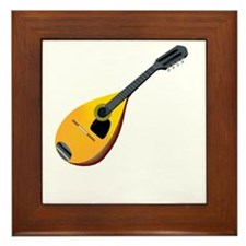 Mandolin (black) Framed Tile