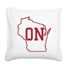 On Wisconsin Square Canvas Pillow