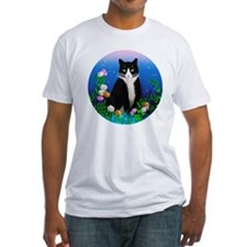 Tuxedo Cat among the Flowers Shirt