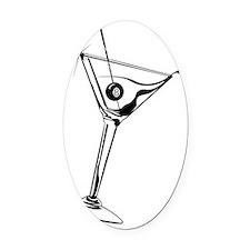 Martini_8Ball_9x12_framed_panel_pr Oval Car Magnet