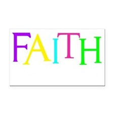 neon multi, Hebrew 11_1 Rectangle Car Magnet