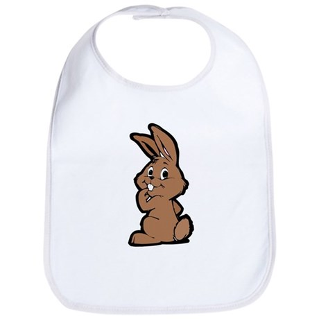 Cute Brown Bunny Cartoon Bib