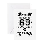 Karma is like 69 Greeting Cards
