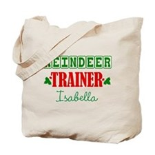 Reindeer Trainer Personalize Tote Bag