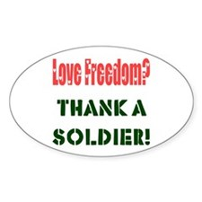 Thank Soldier Oval Decal
