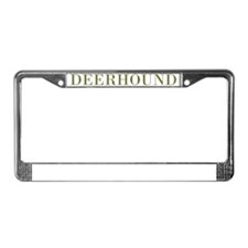 DeerhoundBowlGreen License Plate Frame