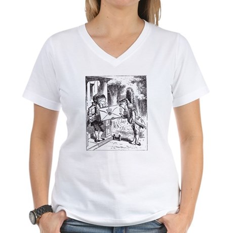 Fish-Footman Women's V-Neck T-Shirt