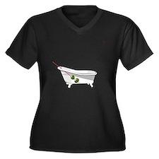 20111113_Phi Women's Plus Size Dark V-Neck T-Shirt