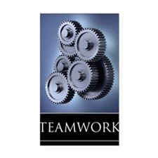 poster_teamwork_01 Rectangle Car Magnet