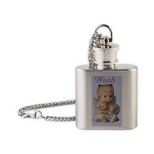 noah ornament oval Flask Necklace