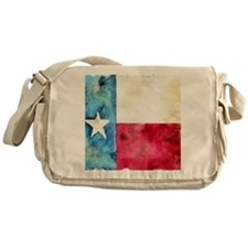 TEXAS FLAG Antique Messenger Bag