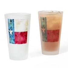 TEXAS FLAG Antique Drinking Glass