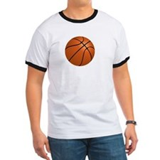 Basketball Smile White T