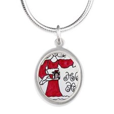 HoHo Silver Oval Necklace