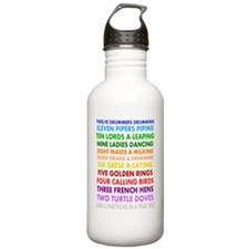 12 days christmas dark Water Bottle